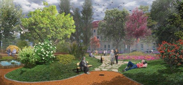 Vizualizácia Tuhárskeho námestia.
