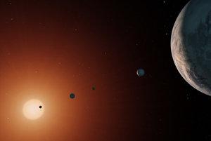 Vizualizácia planetárneho systému TRAPPIST-1