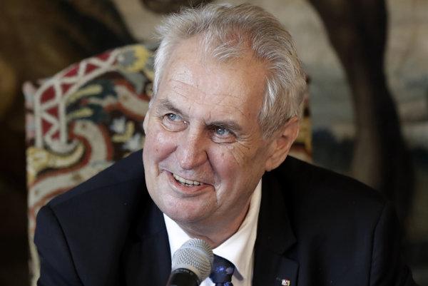 Český prezident Miloš Zeman.