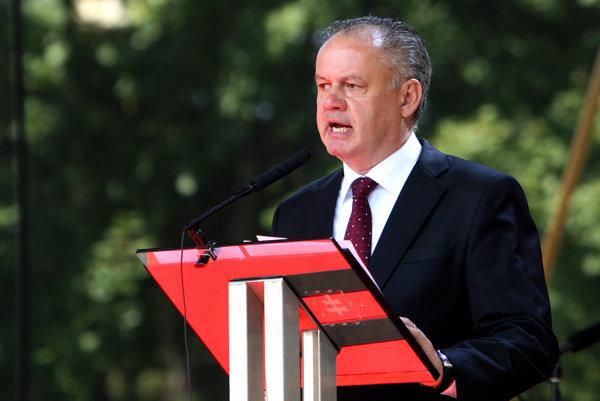 Andrej Kiska počas prejavu osláv SNP v Banskej Bystrici.
