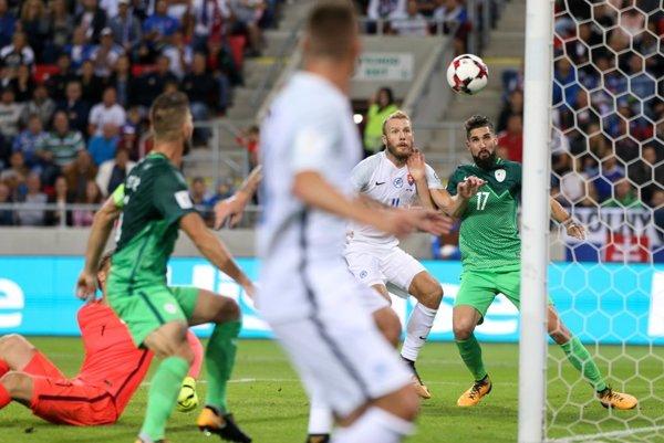 Adam Nemec rozhodol zápas so Slovinskom.
