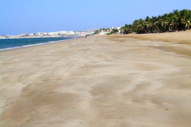 Omán: Nádherné a opustené pláže.