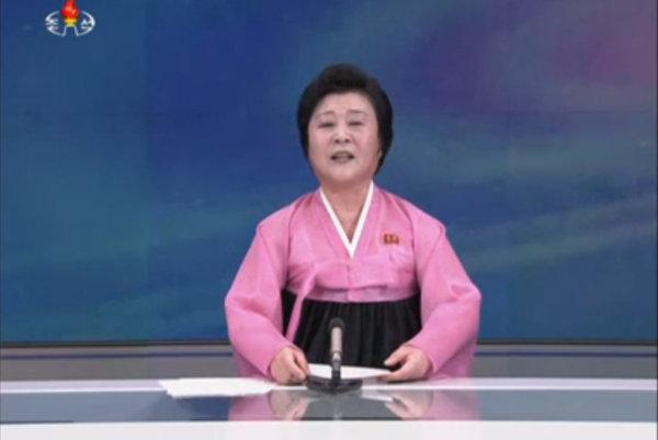 Dáma v ružovom, hlavná tvár severokórejského spravodajstva.