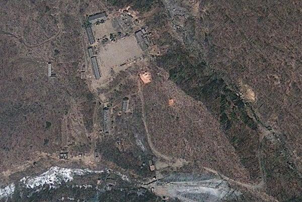 Pchunggje-ri, obávané severokórejské centrum na testovanie jadrových zbraní.