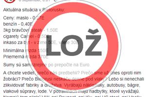 Nie, v Bielorusku nie je lepšie ako na Slovensku.