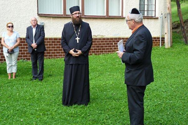 Peter Soroka a kurátor Židovskej náboženskej obce z Košíc Peter Haber.