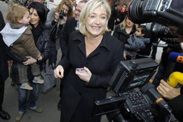 Le Penová sa v prvom kole volieb tešila z výborného výsledku.