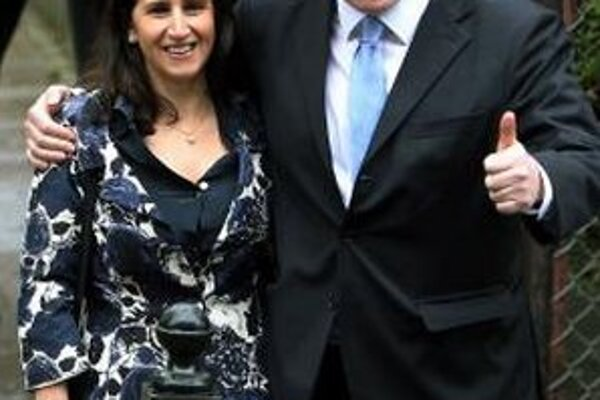 Boris Johnson s manželkou Marinou  Wheelerovou.
