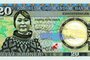 Momentálne sú populárne polymerové bankovky, ako je táto - pre Grónsko.