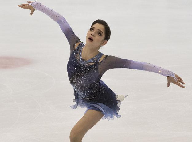 Krátky program ovládla hviezdna ruská tínedžerka Medvedevová.