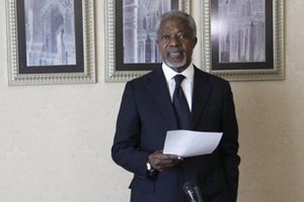 Vyslanec OSN Kofi Annan.