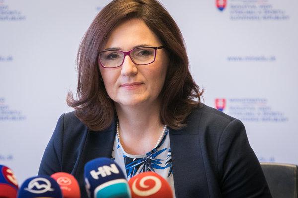 Ministerka školstva Martina Lubyová.