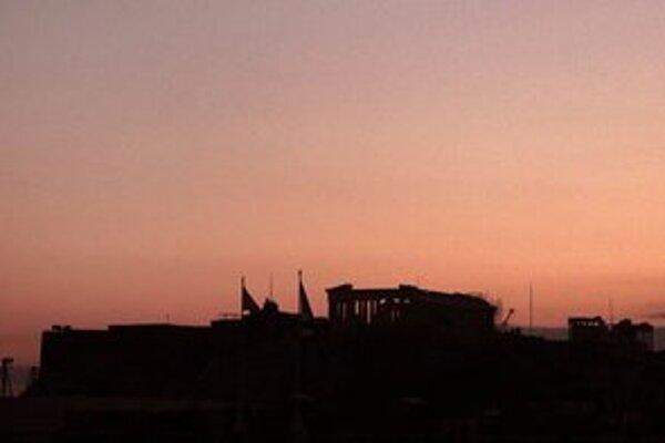 Súmrak nad Akropolou.