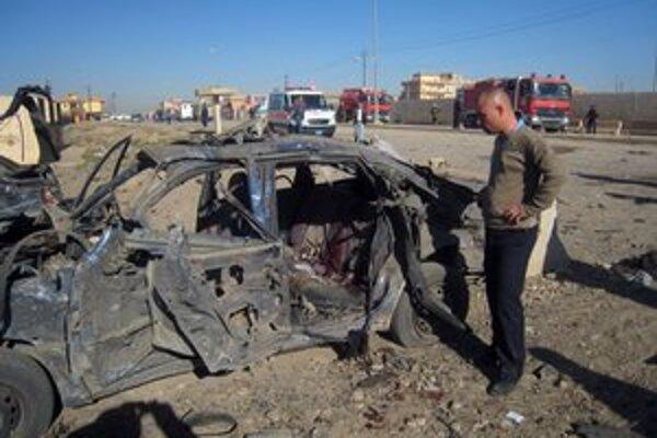 Po výbuchu v Kirkúku.