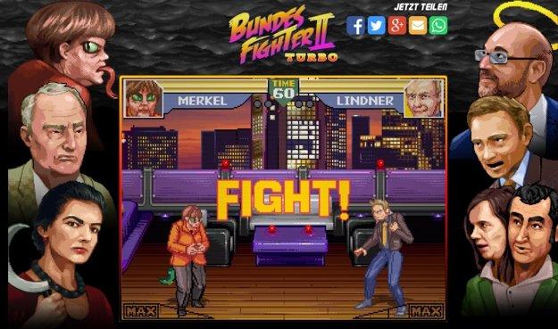 Záber z online volebnej hry Bundesfighter.