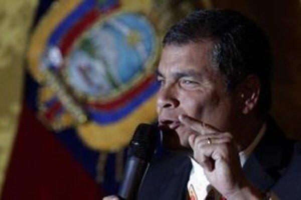 Ekvádorský ľavicový prezident Rafael Correa.