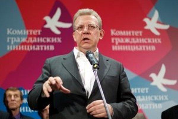 Kudrin je kritikom rozpočtovej politiky vlády.