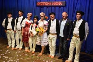 Bystrická kasňa spoločne s Vlastou Mudríkovou a Pavlom Faktorom po uvedení do života tretieho cédečka.