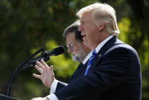 Prezident Trump prijal španielskeho premiéra.