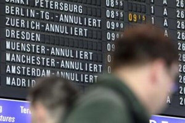 Letisko vo Frankfurte ruší lety.