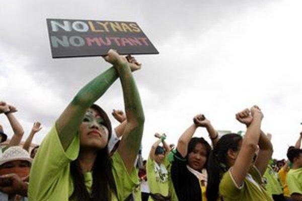 Demonštranti sa obávajú zdravotných následkov.