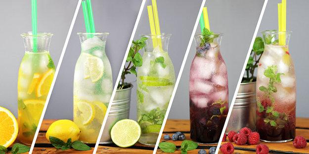 Rôzne druhy limonád vás osviežia medzi jednotlivými hrami