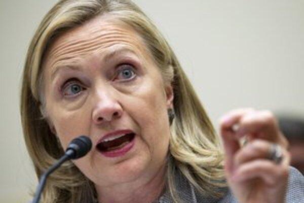 Šéfka americkej diplomacie Hillary Clintonová.