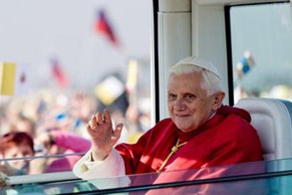 Svätý Otec počas návštevy Českej republiky.