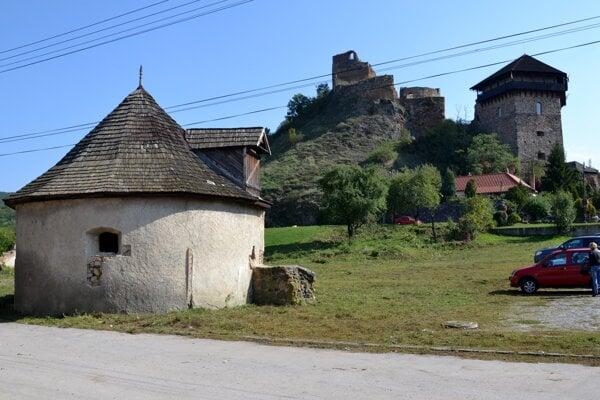 Areál fiľakovského podhradia.