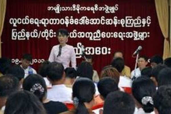 Líderka mjanmarskej opozície Aun Schan Su Ťij.