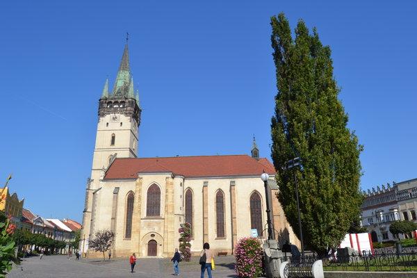 Konkatedrála sv. Mikuláša. Patrí medzi najväčšie atrakcie Prešova.