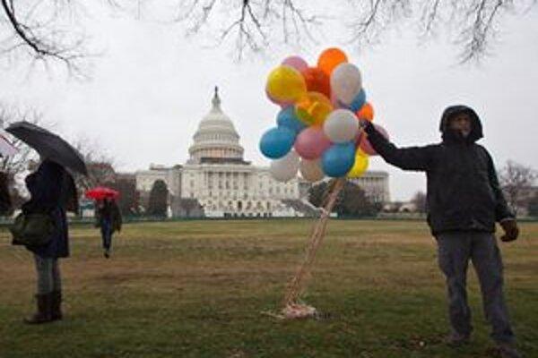 Demonštrant z hnutia Occupy D.C.