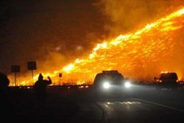 Požiar v americkej Nevade.