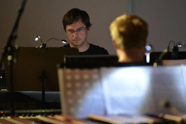 Ivan Šiller na koncerte s Cluster ensemble vo Viedni.