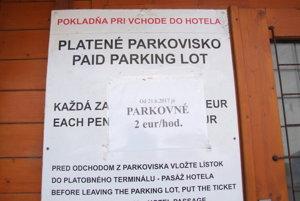 Parkovisko je platené. Ľudia zo susedstva však na ňom parkovať nechcú, potrebujú ním len prejsť autom.