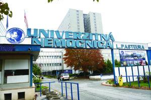 Košická univerzitná nemocnica. V nej premiérovo zaviedli linku proti korupcii.