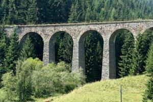 Chmarošský viadukt pri Telgárte.