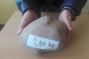 Kapitálny kúsok. Najväčšie kúsky z úrody vážili kilo a štvrť.