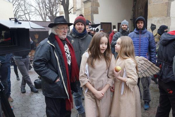 Momentka z februárového natáčania v Kežmarku.
