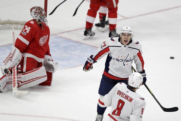 Detroit nestačil na Washington, v predĺžení rozhodol Ovečkin.