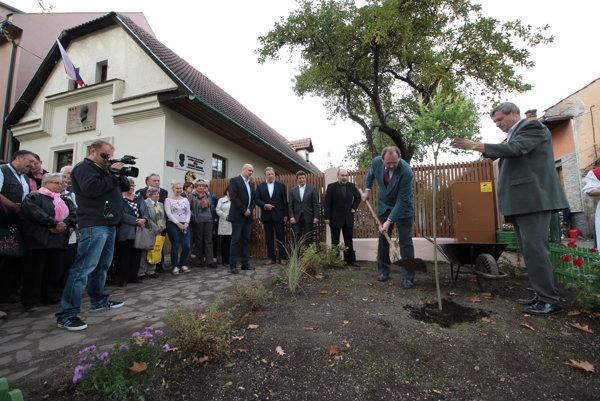 Pred rodným domom súrodencov Rázusovcov zasadili vŕbu.