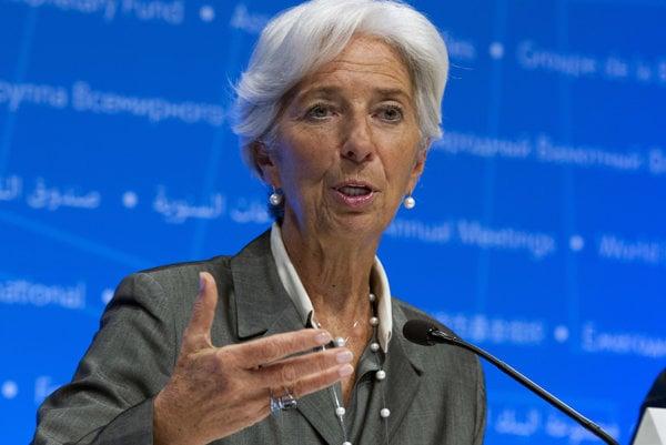 Christine Lagardeová, šéfka Európskej centrálnej banky.