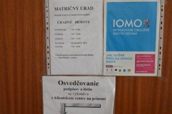 Novinku občania nájdu v priestoroch matriky na 1. poschodí budovy MsÚ na Kukorelliho ulici 34.
