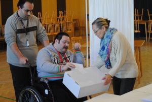 Voľby v Centre sociálnych služieb Vita vitalis v Prešove.