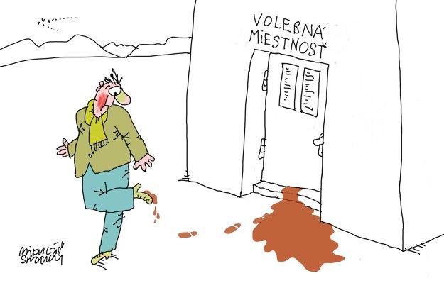 Ako vidí voľby do VÚC 2017 karikaturista Mikuláš Sliacky.