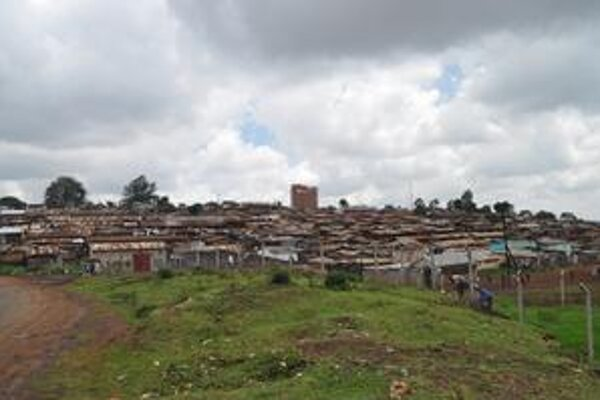 Slumy v hlavnom meste Kene - Nairobi.