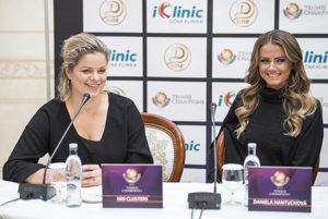 Kim Clijstersová s Danielou Hantuchovou.