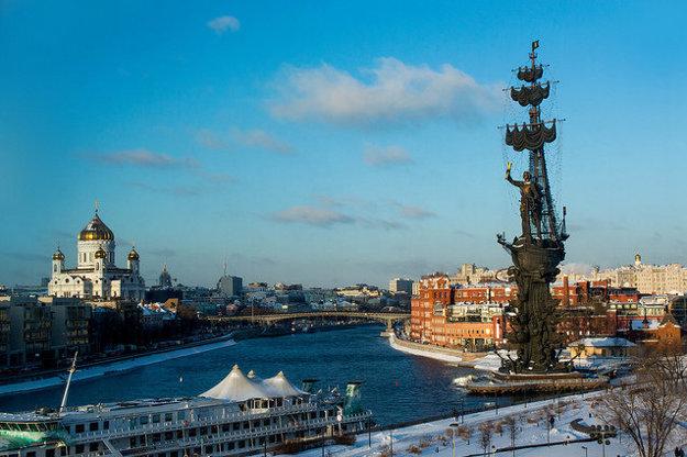 Pohľad na časť Moskvy.