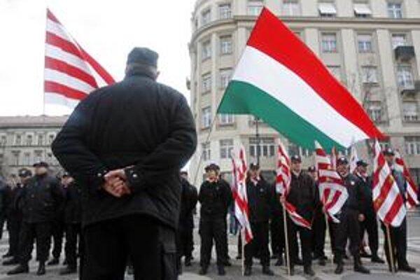 Jedno z vystúpení polovojenskej Maďarskej gardy.