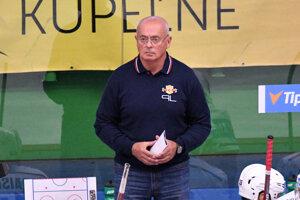 Tréner Zvolena Peter Mikula.